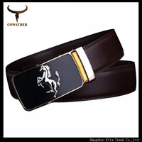 2014 fashion cow genuine leather mens belts for men belts for male Waist Strap Automatic Buckle brown free shipping105~130 size