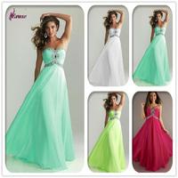 Free Shipping 8007 Sleeveless Sweetheart  Floor Length Satin Party Dress Homecoming Prom Dress Formal Evening Dress