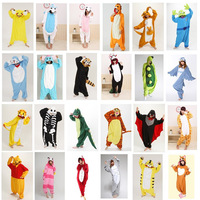 Free Shipping New 2013 Adult Cartoon Cosplay Kigurumi Onesie Animal Pajamas Cute Pikachu/Tigger/Panda Men Women's Couple Pajamas