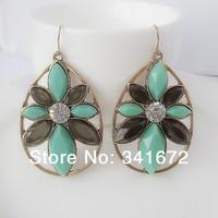 no min order wholesale send mix colors bohemian cute flowers punk ear accessories Fashion 2014 women dangle girls ethnic gifts
