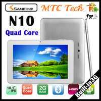 "Free shipping Tablet pc Sanei N10 Quad Core WCDMA 3G 1280x800 10.1"" multi touch Qualcomm Quad core 1GB DDR3/4GB  N10 tablet pc"