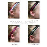 (240 pieces/lot) Sequins Sports Headbands Multiple Colors Assorted