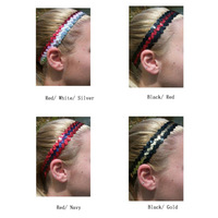 (240 pieces/lot) Sequins Sports Headbands Multiple Colors Assorted