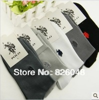 Free shipping 20pics=10pair=1Lot brand socks golf socks men brand  polo socks casual socks in tube socks five colors men's socks