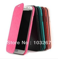 Free shipping British Style PU Leather Back Cover Phone Case for Samsung Galaxy S3 I9300 (Assorted Colors)