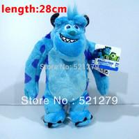 Free shipping 1pcs 28cm  Sullivan monster plush dolls,Monsters University plush toys,Monsters Inc plush toys