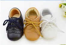 Hot-selling 1pair Lace-Up Brand Leather Baby First Walkers boy/Girl Shoes toddler/Infant/Newborn shoes, antislip Baby footwear(China (Mainland))