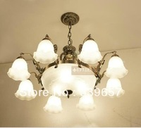 Offer free LED Bulbs European Bronze Chandelier Crystal Chandelier Living Room Chandelier Lamp 8+3pcs lampholders