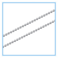 (50pcs / lot) 2mm Fashion Jewelry 45/50/55/60cm Womens Mens Silver Stainless Steel Bead Ball Necklace Chain Wholesale Lots