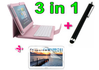 Good Quality Leather Case for Samsung Galaxy Tab 2 10.1 P5100 +Bluetooth Keyboard+1PCS Screen Protector Free shipp