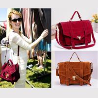HOT!!!! Women Handbag scrub velvet  PU Leather bags women messenger bag Fashion emma roberts Vintage Shoulder Crossbody Bags