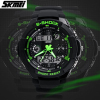 Sports Brand Watch Men's Clock Shock Military LED Casual Quartz Wristwatches Digital And Analog Multifunctional Watches New 2013
