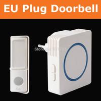 200m remote Wireless DoorBell:EU Plug in 48 melodies Door Bell chimes Waterproof Bell Button Best digital DoorBell