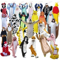 Kigurumi Pajamas All in One Pyjama Animal Suits Cosplay Costumes Adult Garment Flannel Cute Cartoon Animal Onesies Sleepwears