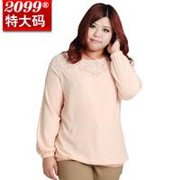 2014 New Fashion Hot Sale Plus Size Casual Long Sleeve Chiffon Blouse Shirts For Women XXXL 4XL 5XL 6XL 7XL 8XL