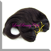 Retail cheap body wave hair weaving  natural black hair 6inches 100g/lot  free shipping