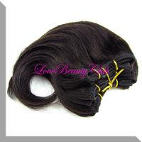 Retail cheap brazilian body wave hair weaving  remy human hair 6inches 100g/lot natural black fast shipping