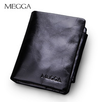 100% oil waxing genuine leather wallet men fashion designer purse Gift for man cowhide Zipper Coin Wallet wholesale wallets