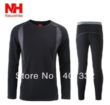 Free Shipping Men's Outdoor sports thermal underwear Hot-Dry technology surface M L XL XXL XXXL 4XL(China (Mainland))