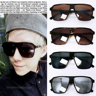 HK Free Shipping 2013 New Fashion Cool Vintage Unisex Oversized 80's Wayfarer Anti UV Protection Polarized Sunglasses