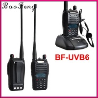 Two-Way Radio Baofeng BF-UVB6 5W 99CH UHF 400-470MHz+VHF 136-174MHz Walkie Talkie Interphone Transceiver