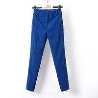 Women Pure Color Casual Pencil Trousers Ladies Pants, TW1051-E02