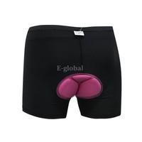 New Women's Bicycle Cycling Underwear Gel 3D Padded Bike Short Pants Black 5 sizes 17889