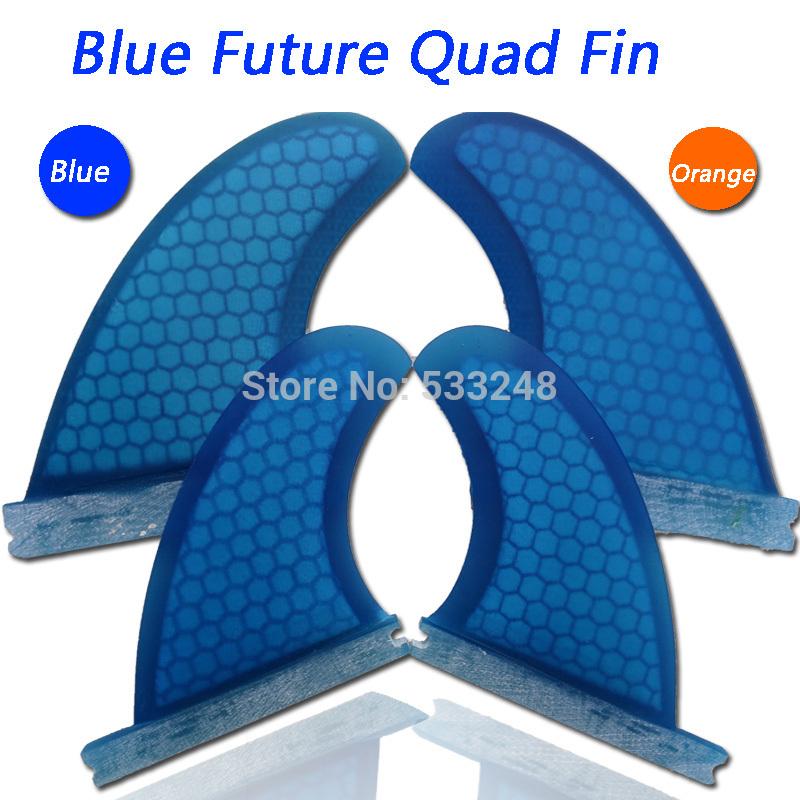 Blue Quad future Surfboard fins/fiberglass future surf fins future/surf quad-fins(China (Mainland))