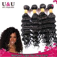 Rosa Hair Products Malaysian Virgin Hair Deep Wave Unprocessed  Virgin Malaysian Hair Extension Deep Wave 4pcs Human Hair Weave