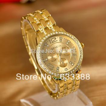 Wholesale High Quality Alloy Women Wristwatch,GENEVA Steel Belt Wristwatch,Fashion Gift Watch,Free Shipping Dropshipping