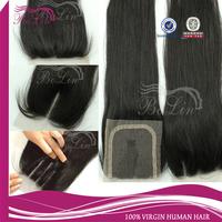 In Stock  Grade AAAAAA Natural Straight Brazilian Virgin Hair Free Middle 3 Way Part Lace Closure brazilian straight closure