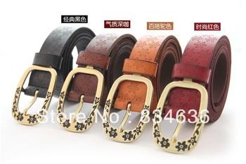 Genuine leather high quality women's strap Women fashion cowhide belt wholesale