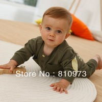 Retail 1pcs baby rompers/baby clothing green&cute bodysuits high quality baby wear children autumn clothing