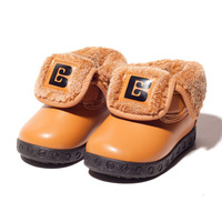 2013 Stock outlet  Baby Girl Boy Cotton-padded Warm PU leather Inner 12 - 14.5cm snow boots children infant shoes supernova sale