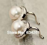 Freshwater Pearl Stud Earrings, Real pearl earrings, Natural pearl earrings For Women with 925 Silver Jewelry