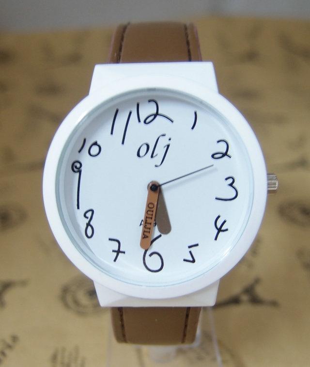Hot Sale leather strap women rhinestone Children Cartoon Watch High quality women Quatz wristwatches OLJ-11(China (Mainland))