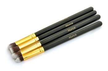 4pcs/lot Professional Eye Brushe Set Eyeshadow Blending Pencil Brush Makeup Tool Cosmetic Glod ZH1217X Fshow