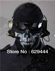 Call of duty ghost skull face mask Motorcycle mask Half face airsoft skull biker mask ghost balaclava mask(China (Mainland))