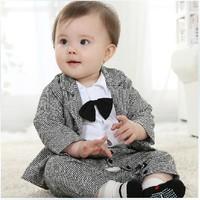 Hot sale baby boy gentlemen suits 3pcs clothing set for infant baby boys,autumn jacket for infant boy,polo baby boy new arrivel