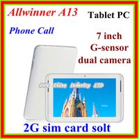 Hot sale 7 inch Tablet PC android with Phone Call 512M/4GB Capacitive Screen Android 4.0 Dual camera