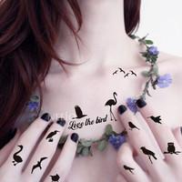 Hot Sale Wholesale 100pcs/lot Many Designs Birds Temporary Tattoo Waterproof Body Painting Art Stickers#TS008