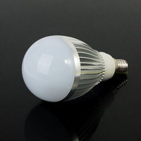 Wholesale (5 pieces/lot) LED Bulb Light  energy saving lamp 7W E14 warm white/white Dimmable AC85-265V Free Shipping
