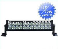 "72W 12"" led light bar,OFFROAD LED light, LED WORK LIGHT, Free shipping via express way"