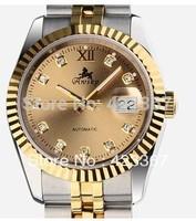 Watch Men Relogios  Switzerland Brand Men's Automatic Watch Double Calendar Mechanical 18k Plated Waterproof 3atm Awsky