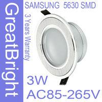 24pcs/lot 3W led recessed downlight lamp dimmable 110V  220V 240V AC85-265V 3years warranty   :TDB03