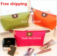 Free shipping,women's cosmetic bag large capacity cosmetic case candy color nylon cosmetic box waterproof makeup case,1 pcs/lot