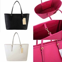 Free ship new 2013 high quality ladies shoulder large tote bag famous designer brand celebrity fashion PU women leather handbags