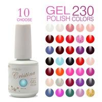 Choose 10 Colors In 230 Crislish Hot Uv Soak Off Gel Nail Polish Varnish Set Temperature Color Change Nail Design Supplies