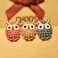 Min.order is $15(mix order)2014 earrings fashion   lovely owl earrings for women  wholesale