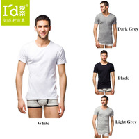 2014 Hot Selling Men O-neck Bamboo Fiber Mens Cotton Baisc Short Sleeve T-shirt Skin-friendly Breathable Tshirt Tops for mens